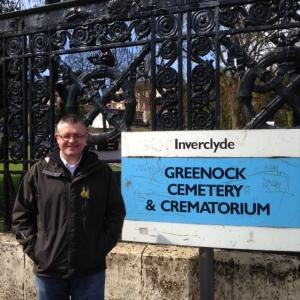 Stuart McMillan MSP at Greenock Cemetery