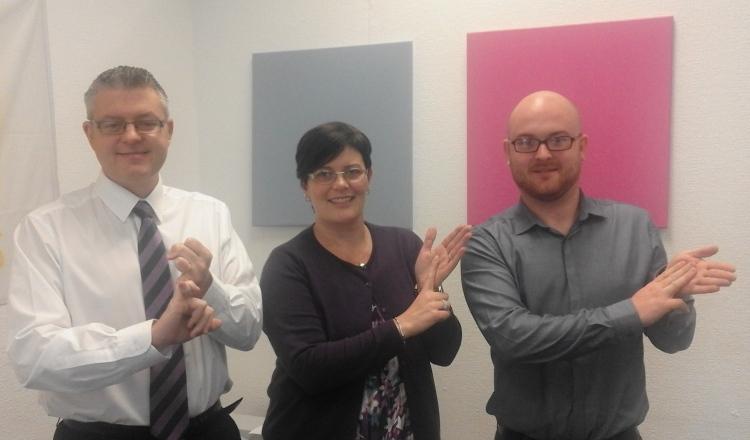 Stuart McMillan MSP deaf awareness taster 23 Aug 16