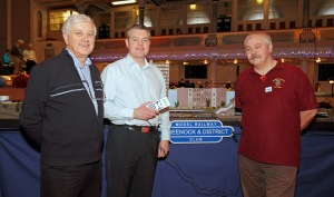 Stuart McMillan MSP with Committee Members at the Model Railway Exhibition - Town Hall - 5 November 2011