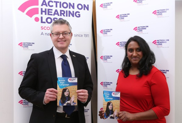 Stuart McMillan MSP and Malaika Rose 09 May 17 (cropped)